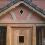 Porch detail plus oak front door, Bridgnorth, Shropshire