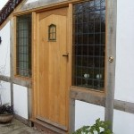 External Oak Door with Half Sidelights