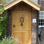 External oak stable door and porch
