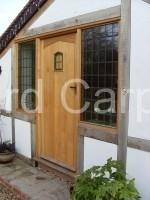 External Oak Door with Half Sidelights