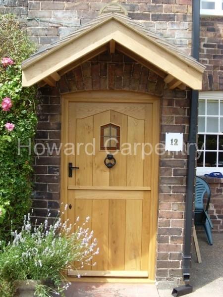 External oak stable door and porch