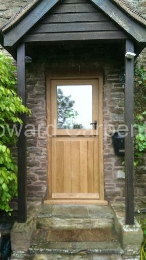 External oak stable door