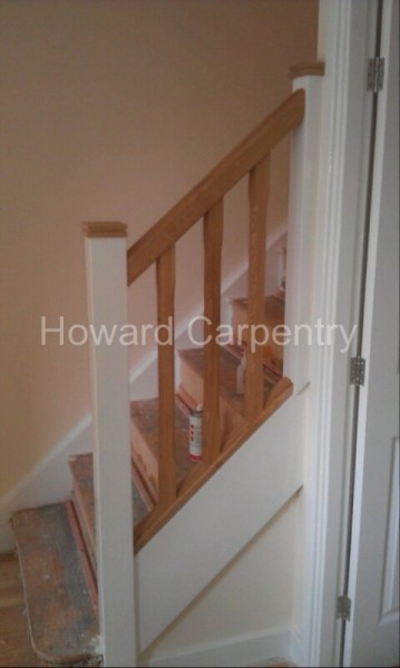 Oak spindles - part of a home renovation, Herefordshire